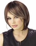 Brown Unisex Rock Star Wig