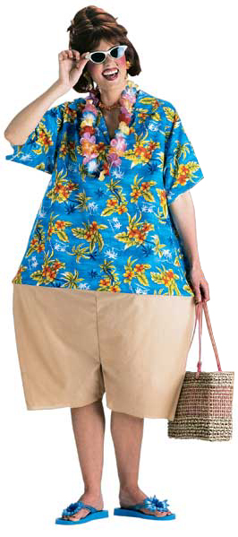 Women's Maternity Funny Tourist Costume