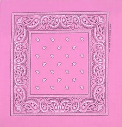 Double Sided Light Pink Paisley Bandanas