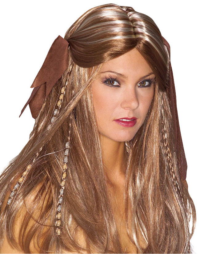 Braided Pirate Wench Costume Wig