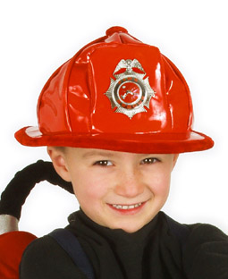 Child's Red Firefighter Hat