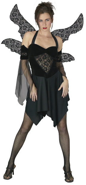 Adult Black Fallen Angel Costume