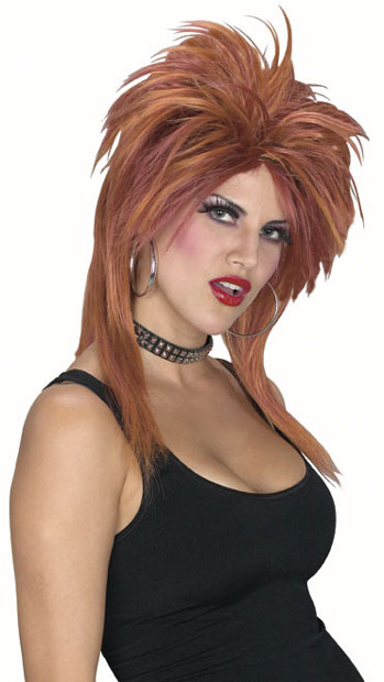 2 Toned Auburn & Brown Rock Star Wig