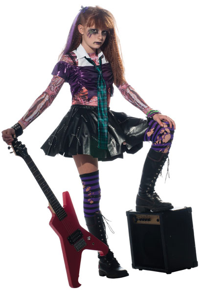 Girls Rock Zombie Costume