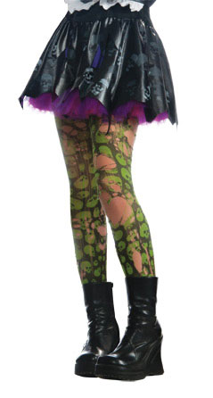 Tattered Green Zombie Tights