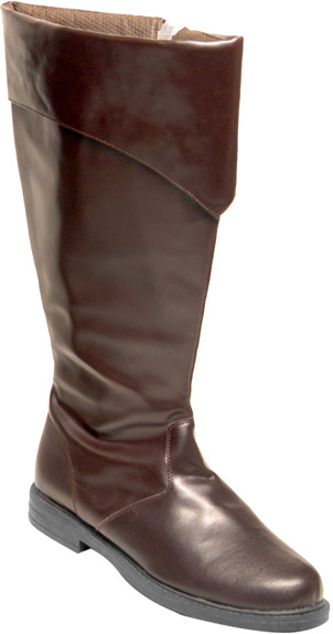 Men's Deluxe Brown Tall Pirate Boots