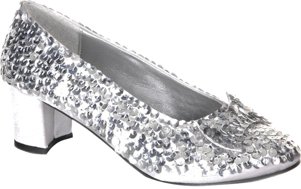 Child's Silver Sequin Shoes