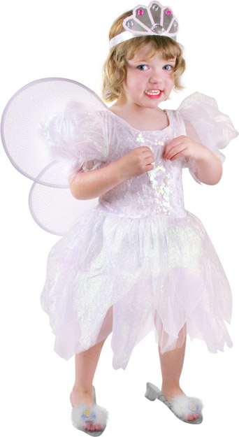 Toddler White Petal Fairy Costume