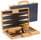 15 inch Black and White Wood Backgammon