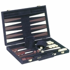 15 inch Blue Velour Backgammon