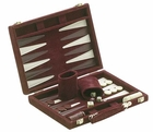 Burgundy Suede Backgammon Game Set