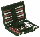 Green Suede Backgammon Game Set