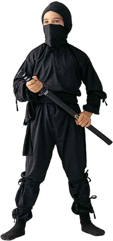 Child's Black Ninja Costume