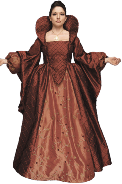 Adult Authentic Queen Elizabeth Costume