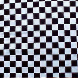 Black & White Checkerboard Bandanas