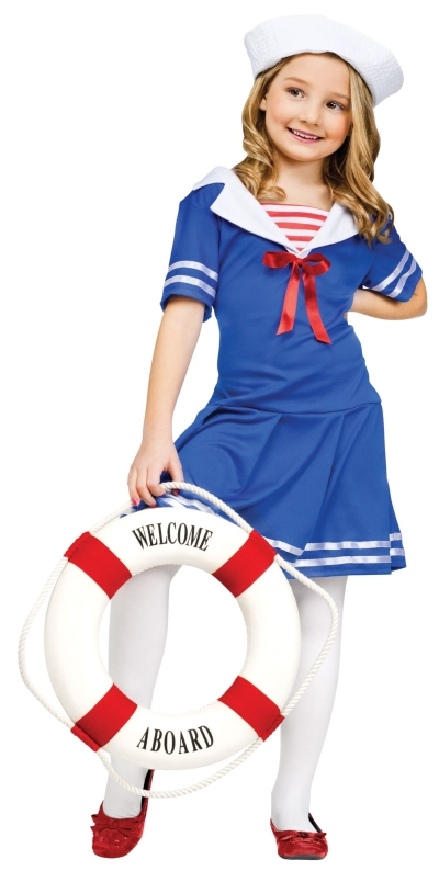 Girl's  Sailor Girl Costume