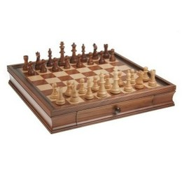 "19"" Walnut Chess Set"