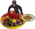 "Uncle Bob's Circuit 54"" Inflatable Two Rider Snow Tube"