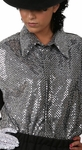 Billie Jean Silver Sequin Shirt