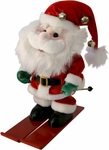 Singing Santa On Skis
