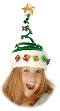 Adult Springy Christmas Tree Hat