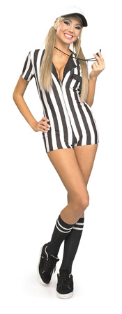 Sexy Referee Bodysuit Costume
