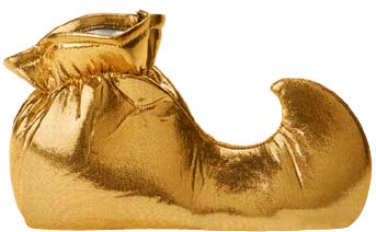 Adult Gold Genie Shoes