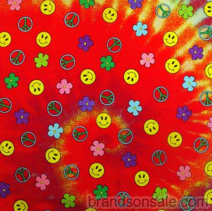 Smiley Face Tie Dye Swirl Bandanas