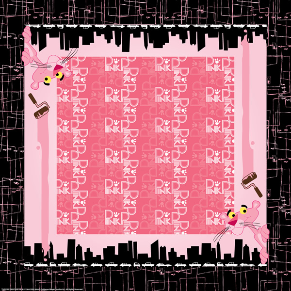 Pink Panther Paint the Town Pink Bandanas