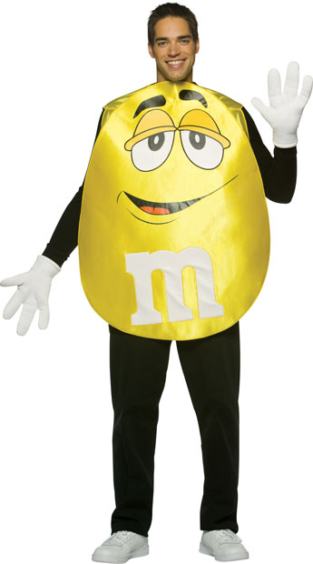 Adult M&M Yellow Poncho Costume