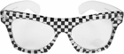 Men's Black Checker 50's Glasses