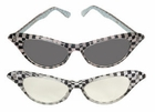 Women's 50's Checker Glasses
