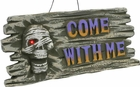 Mummy Skull Halloween Sign