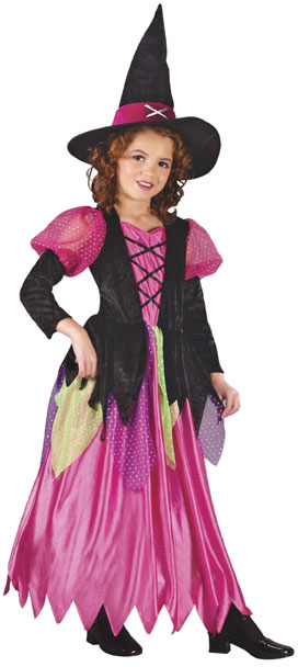 Child's Rainbow Witch Costume