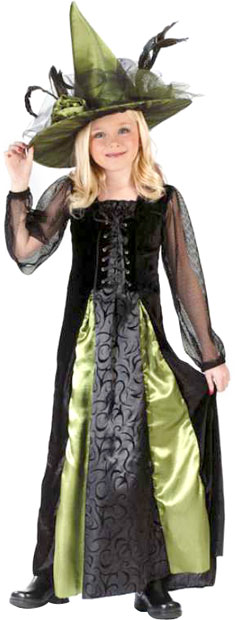 Child's Goth Maiden Witch Costume