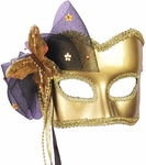 Golden Butterfly Carnival Mask