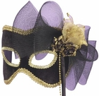 Golden Flower Half Carnival Mask