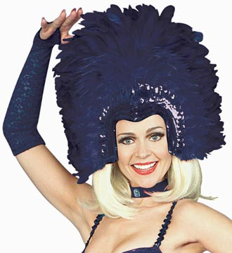 Purple Feathered Show Girl Headpiece