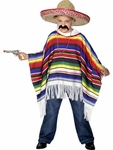 Child's Mexican Poncho Costume