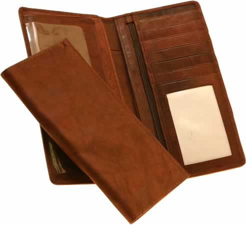 Nubuck Leather Checkbook Cover