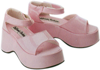 Child's Pink Diva Costume Shoes