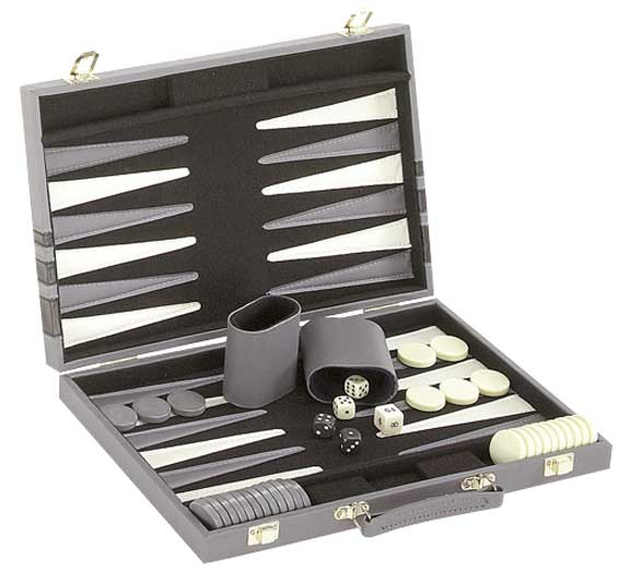Black & Gray Backgammon Game Set