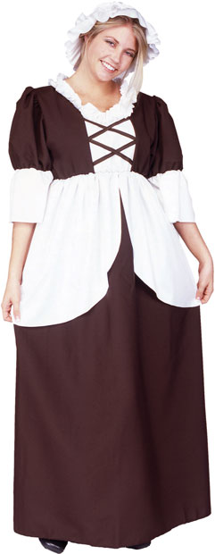 Plus Size Colonial Lady Costume