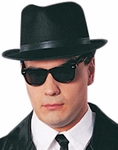 Easy Blues Brothers Hat and Glasses