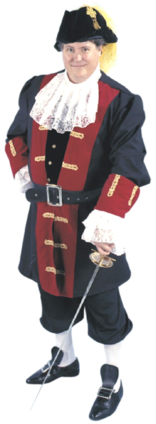 Plus Size Sea Captain Costume