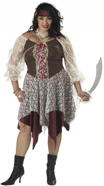 Plus Size Women's South Seas Pirate Costume