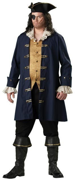 Adult Plus Size Cutthroat Pirate Costume