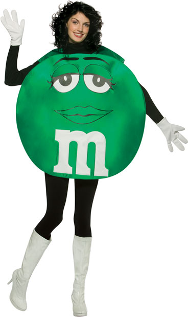 Adult M&M Green Poncho Costume