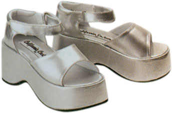 Child's Silver Diva Costume Shoes