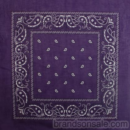 Purple Paisley Bandanas Wholesale